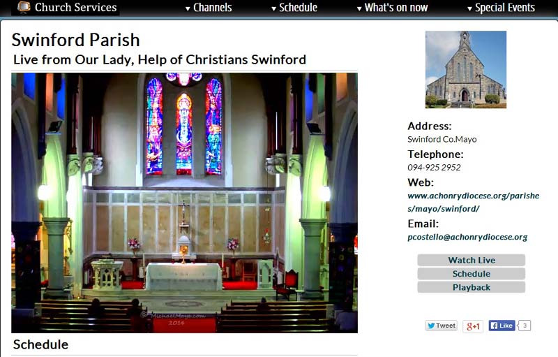 Swinford Church Live Webcam