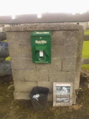 Mutt Mitt dispenser at Aras Attracta Park Rd