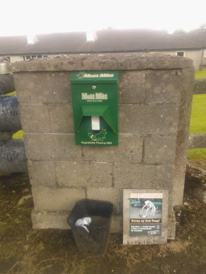 Mutt Mitt dispenser at Aras Attracta Park Rd
