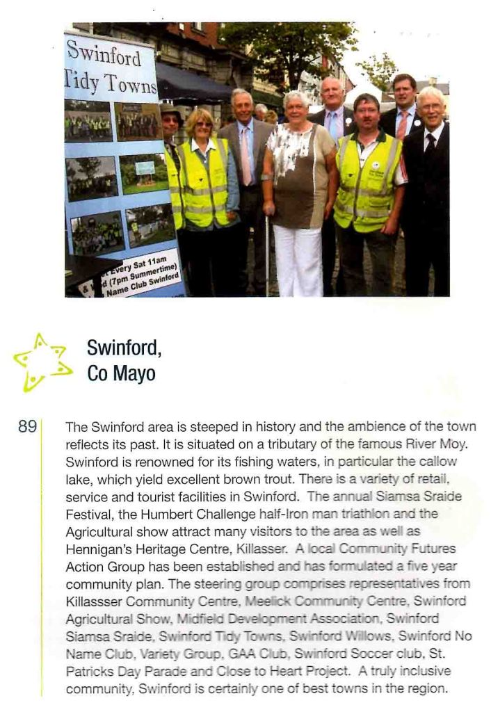 Swinford Pride of Place Awards booklet article