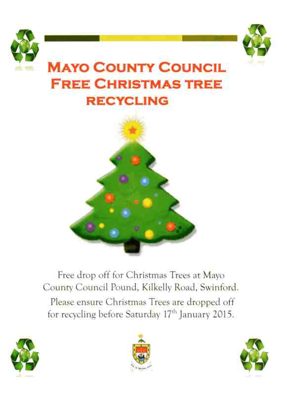 2014 Christmas tree recycling in Swinford poster