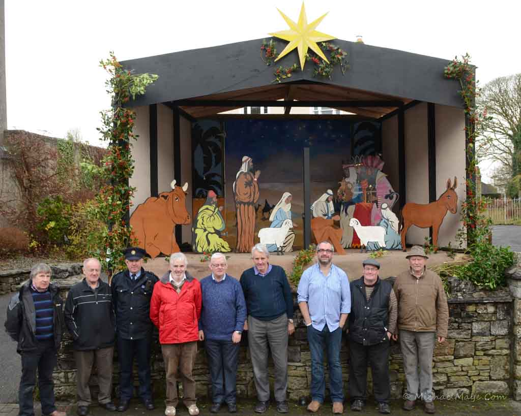 Swinford men's shed build the Swinford Christmas crib.
