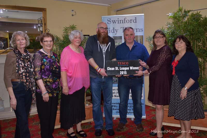 2015 Swinford Clean street League Awards night winners