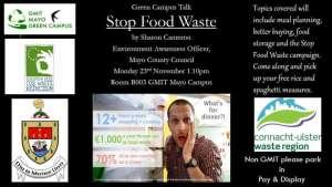stop food waste talk poster