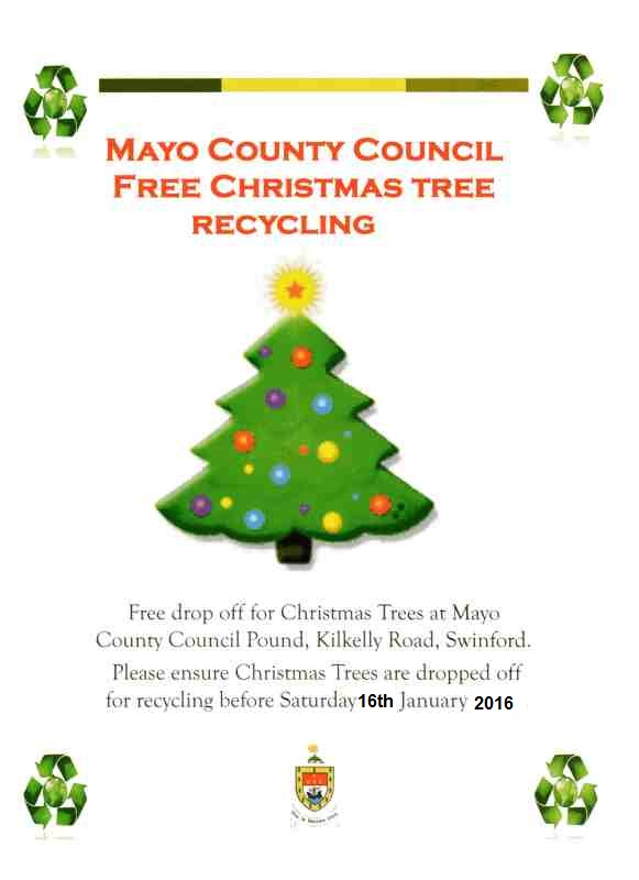 2015 Christmas tree recycling in Swinford