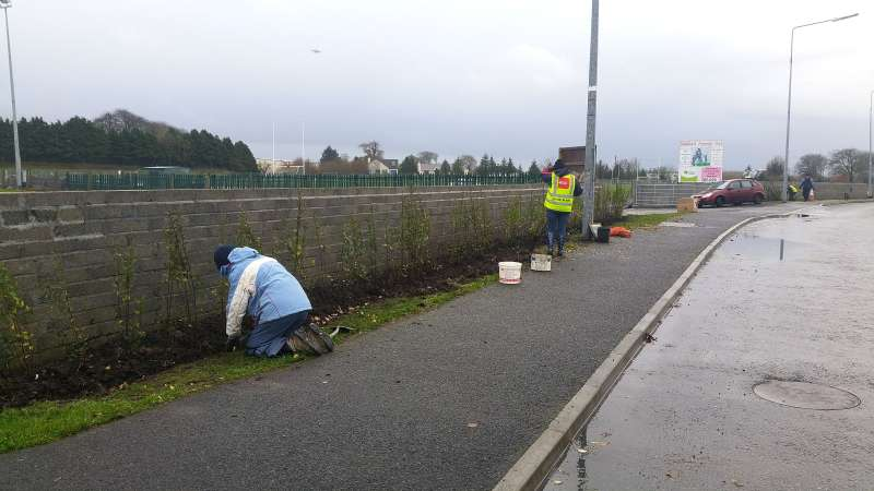 Swinford Amenity Park Wall project-20151128_110218