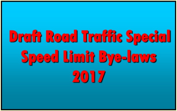 Draft Speed Limit By Laws 2017