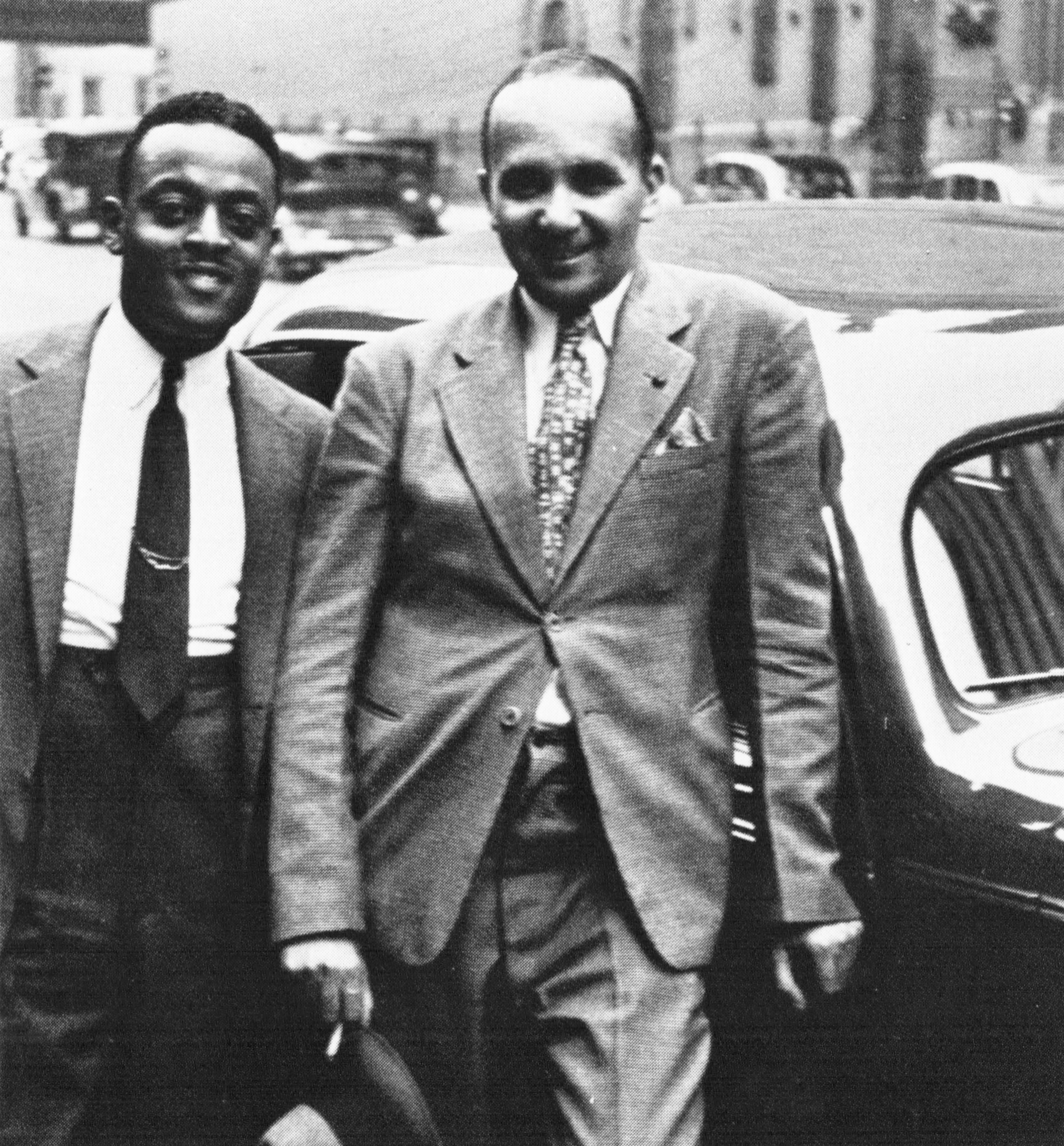 Ben Webster and Fletcher Henderson - mid 1930s.