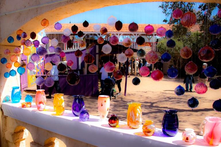 hand-blown glass Arizona Renaissance Festival