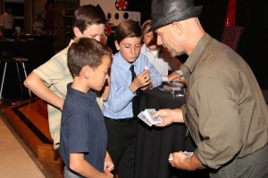 Todd showing magic at bar mitzvah 11
