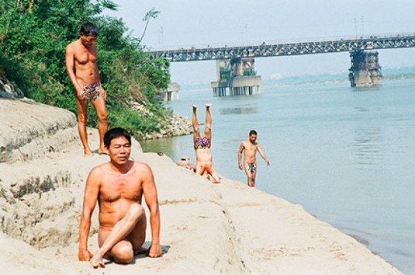 Beach for Nude Bath, Hanoi, Vietnam