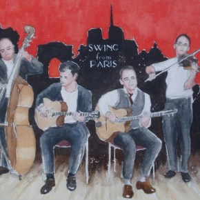 Swing from Paris painted by Michael Butler