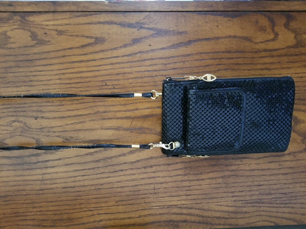 See more black metal mesh crossbody bag