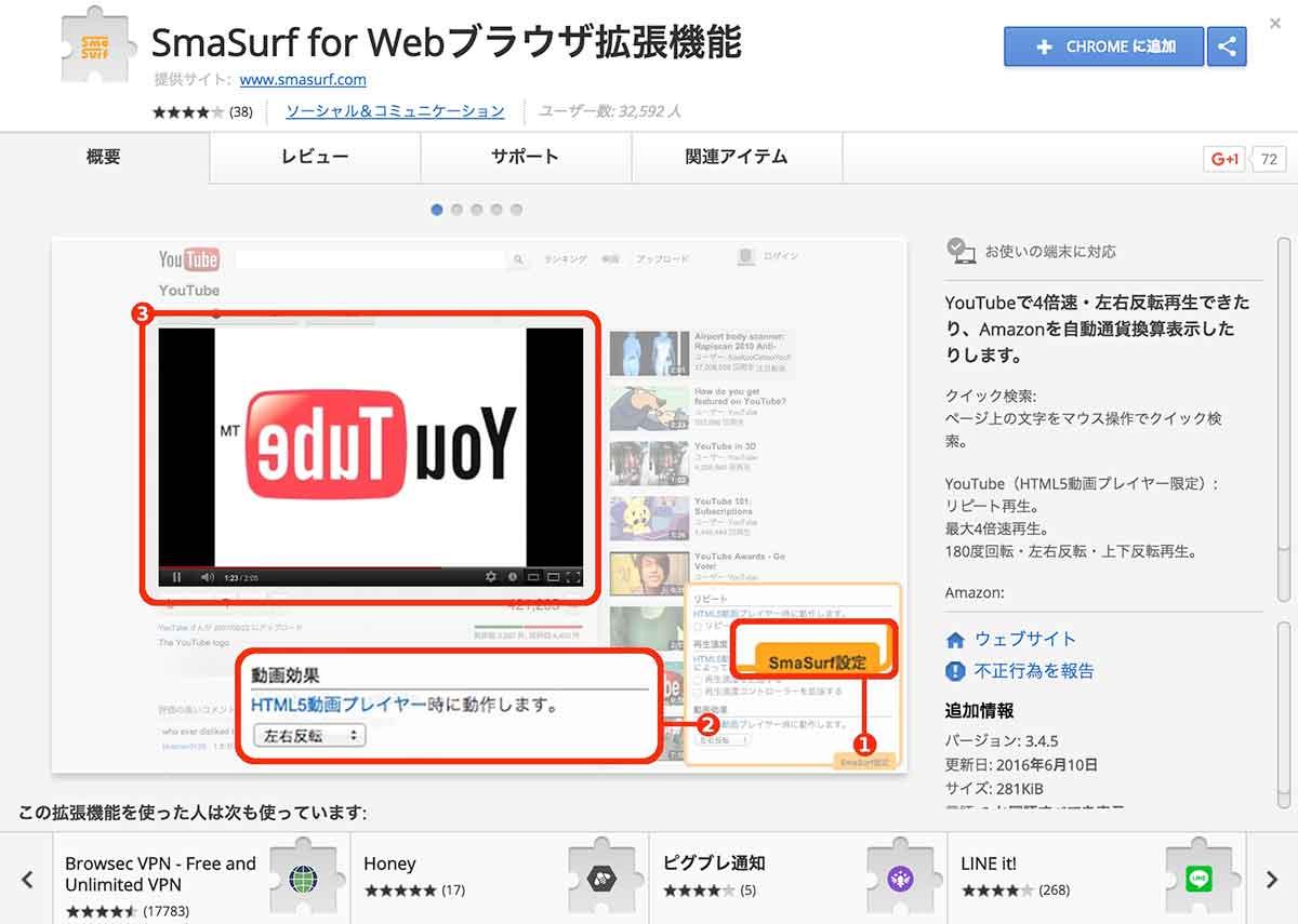 SmaSurf for Webブラウザ拡張機能