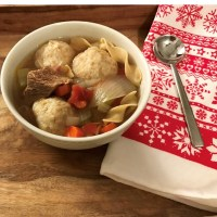 Beef Vegetable Soup & Dumplings
