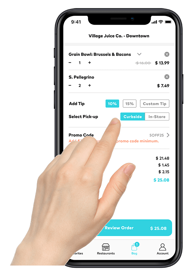 Off-premise platform that allows users to tip
