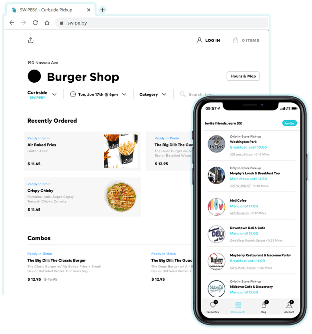 Swipeby offers easy mobile ordering and web ordering, so you can place orders directly from the restaurants website