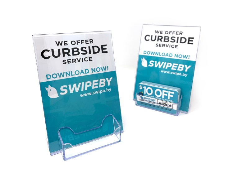 Swipeby Hostess stands with card holder