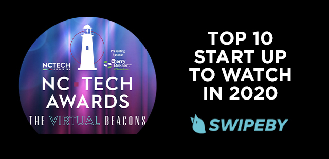 SWIPEBY wins 2020 North Carolina Top 10 Startup award