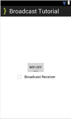 BroadcastReceiver Main XML