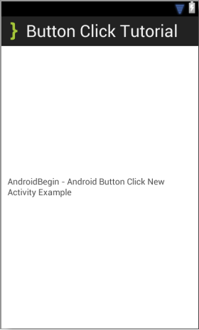 Button Click Tutorial New Activity XML