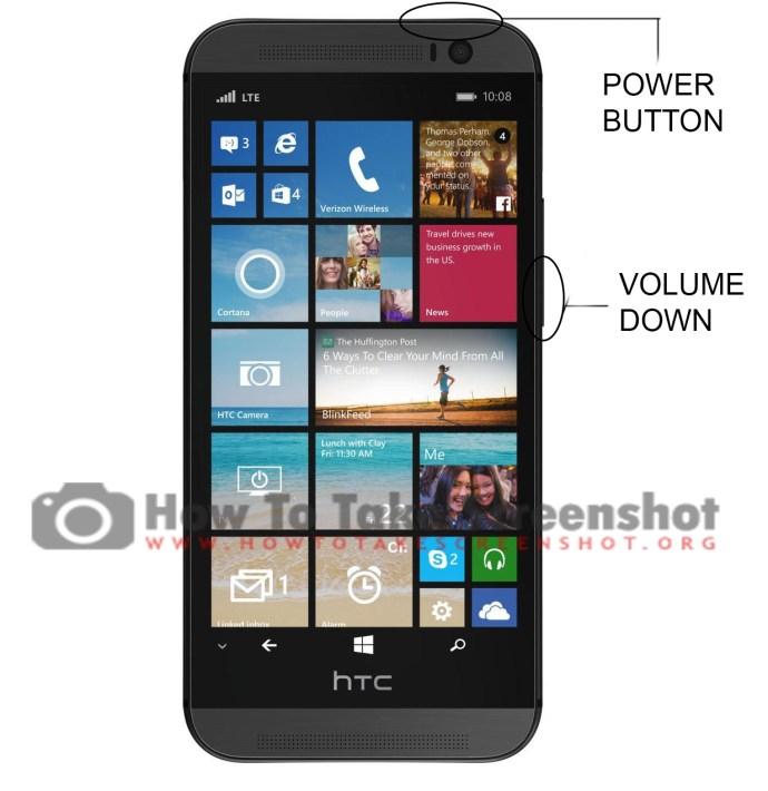 How to take Screenshot on HTC One M8