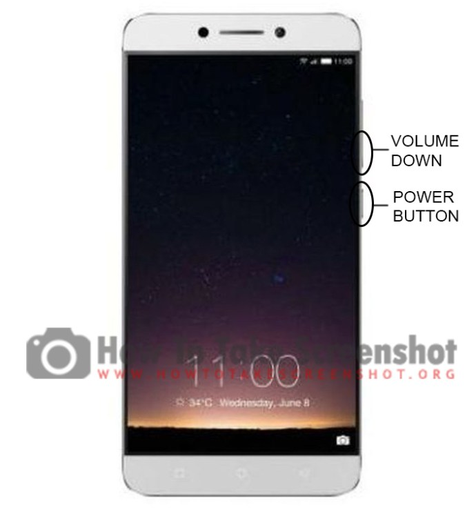 How to take Screenshot on Letv Le 2 Pro