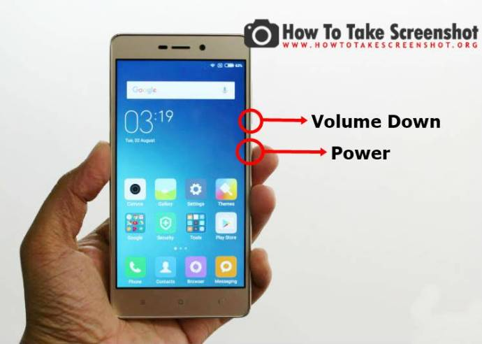 How to take Screenshot on Redmi 3s Prime