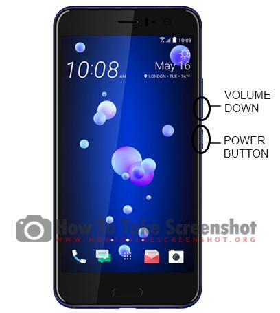 How to take Screenshot on HTC U12