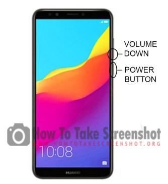 How to take Screenshot on Huawei Y7 Prime