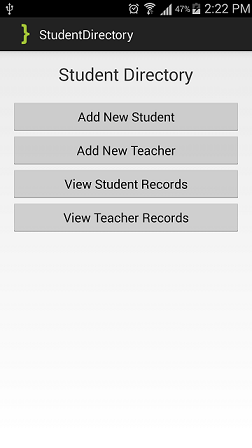 MainActivity-Student Directory