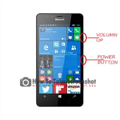 How to take Screenshot on Microsoft Lumia 950
