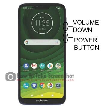 How to Take Screenshot on Motorola Moto G7 Play
