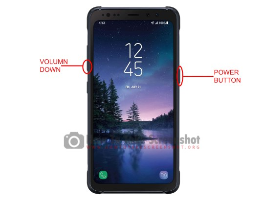How to Take Screenshot on Samsung Galaxy S8 Active: