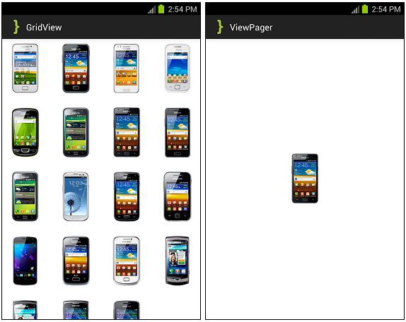 Android Implementing ViewPager into GridView Tutorial