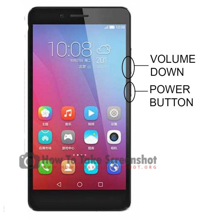 How to Take Screenshot on Huawei Honor 5X