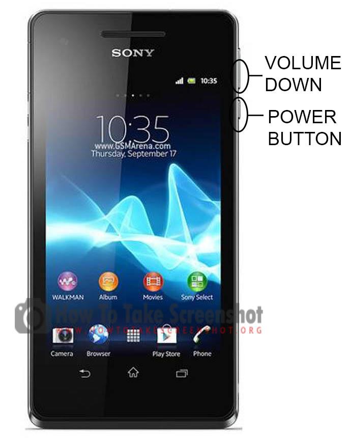 How to Take Screenshot on Sony Xperia V