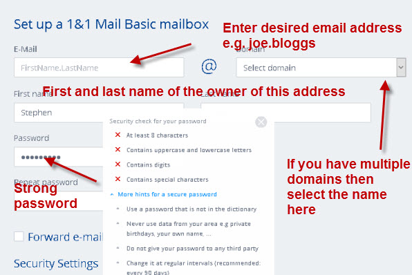 1and1-email-account-setup