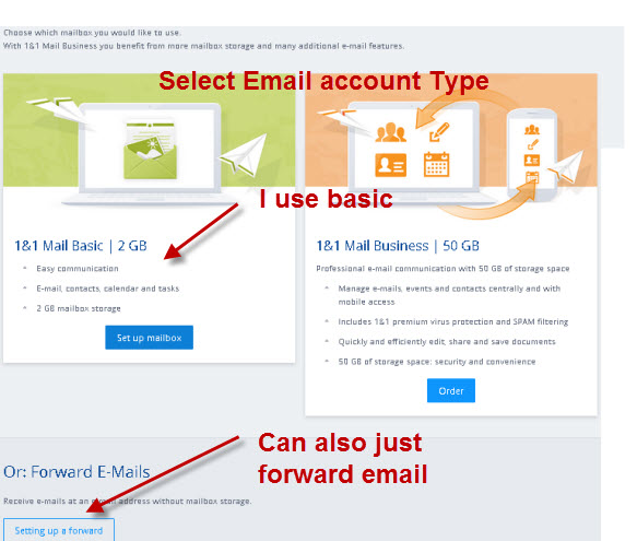 1and1-email-account-type