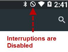 Interruptions-disabled