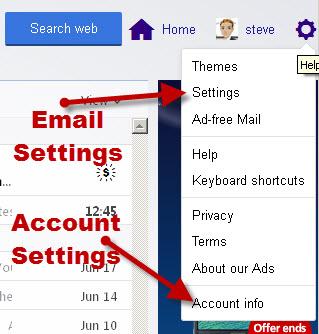 Yahoo-account-mail-settings