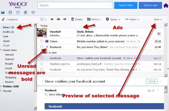 Yahoo-inbox-overview