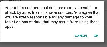 android-install-warning