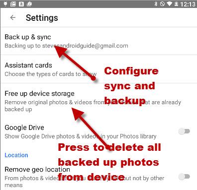 google-photos-settings