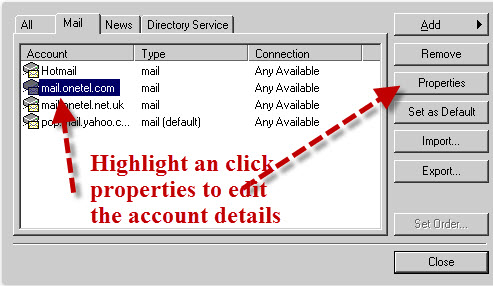 outlook-express-account-properties