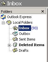 outlook-express-default folders