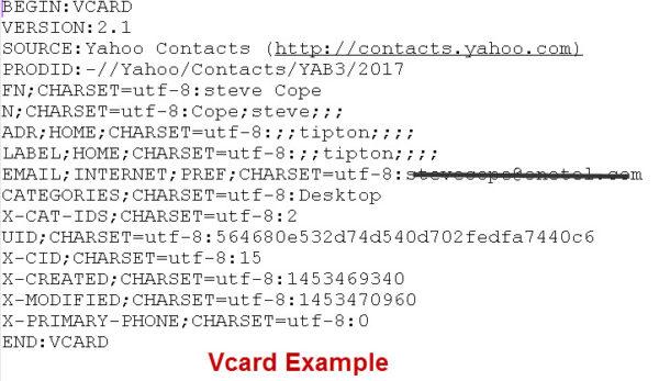vcard-example