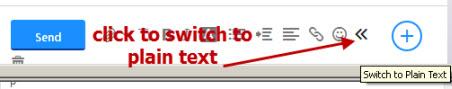 yahoo-send-mail-plain-text