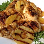Seasoned chicken and pineapple slices flavored with a pineapple preserves and rum glaze make Pineapple Rum Glazed Chicken an easy recipe for grilling season.