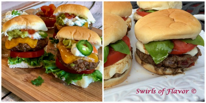 Jalapeno Sliders and Caprese Burgers